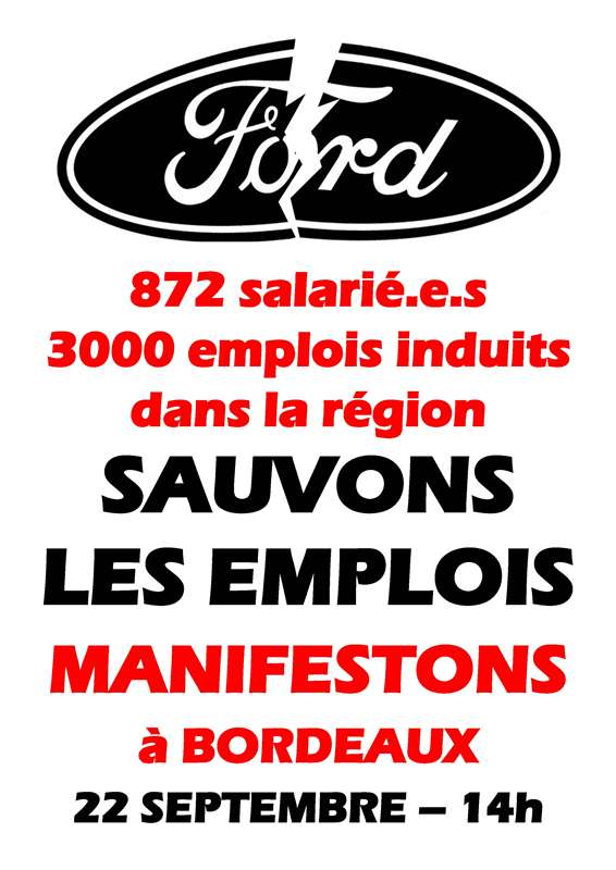 Affiche Ford sauvons les emplois
